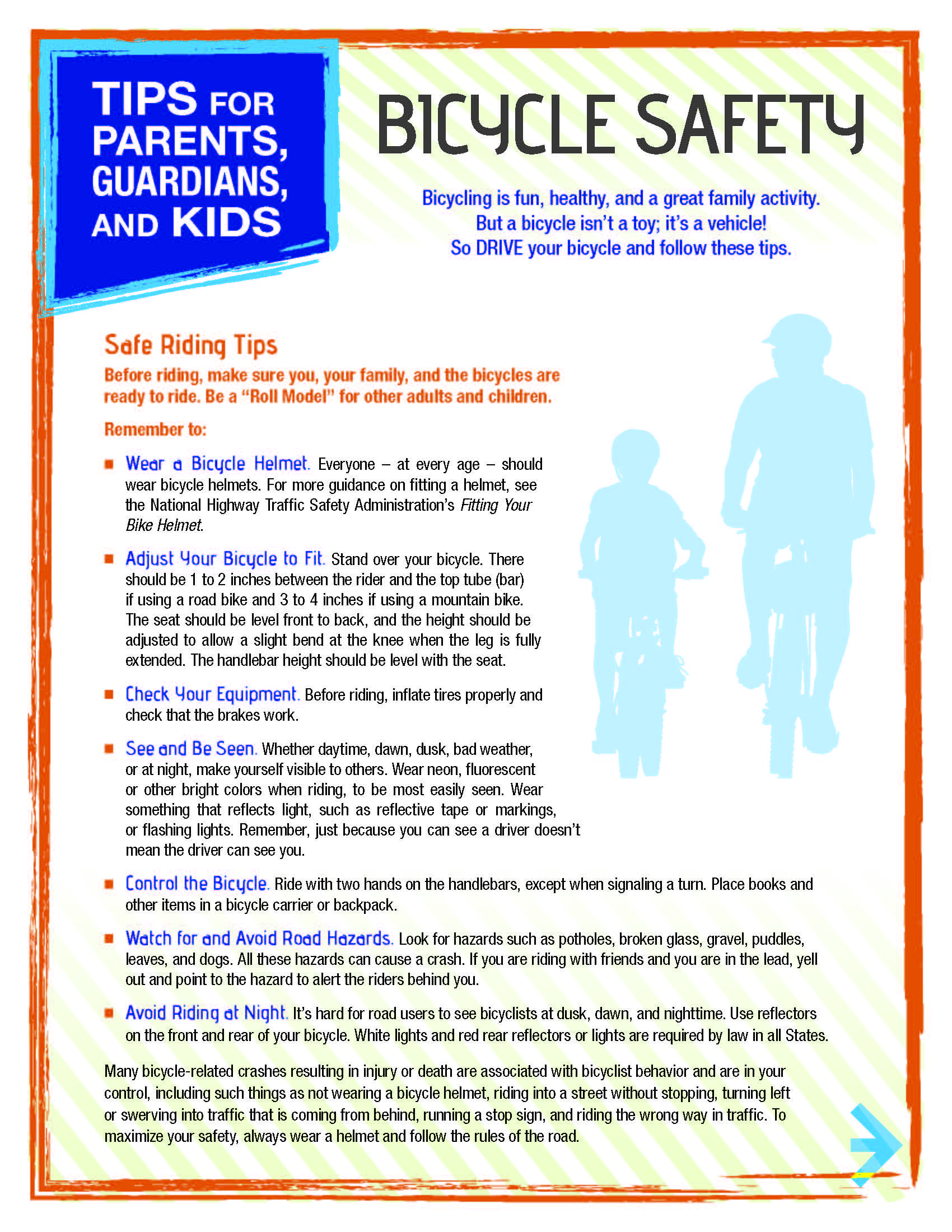 Tips For Parents Guardians And Kids On Bike Safety 1 Of