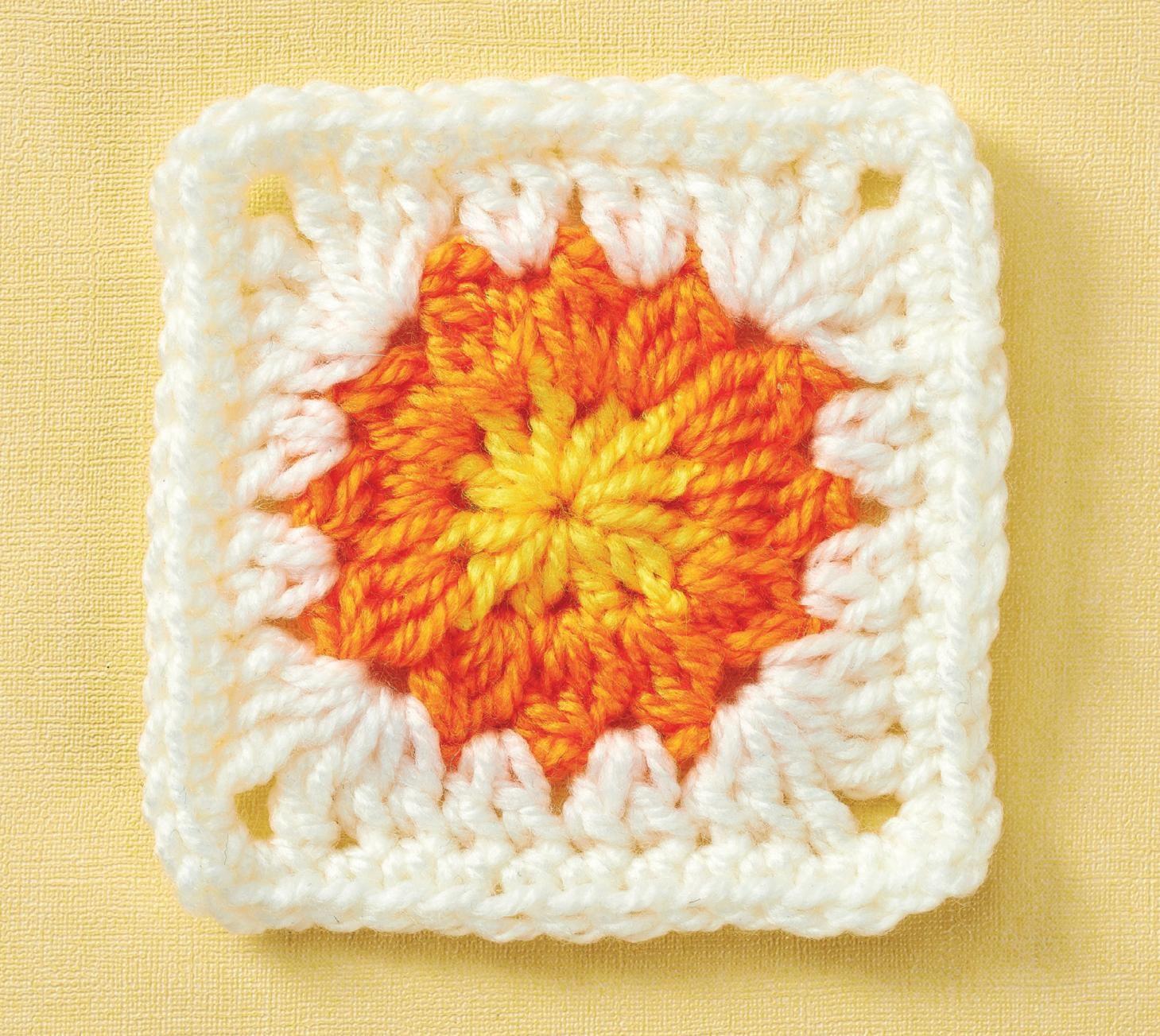 Sunflower granny square | GRANNY SQUARES 3 | Pinterest | Granny ...