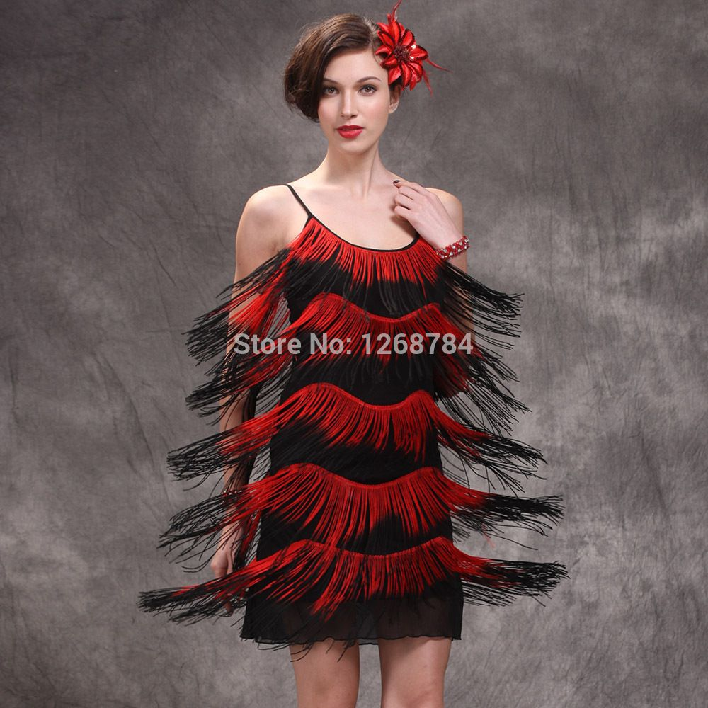 G stage red dress black