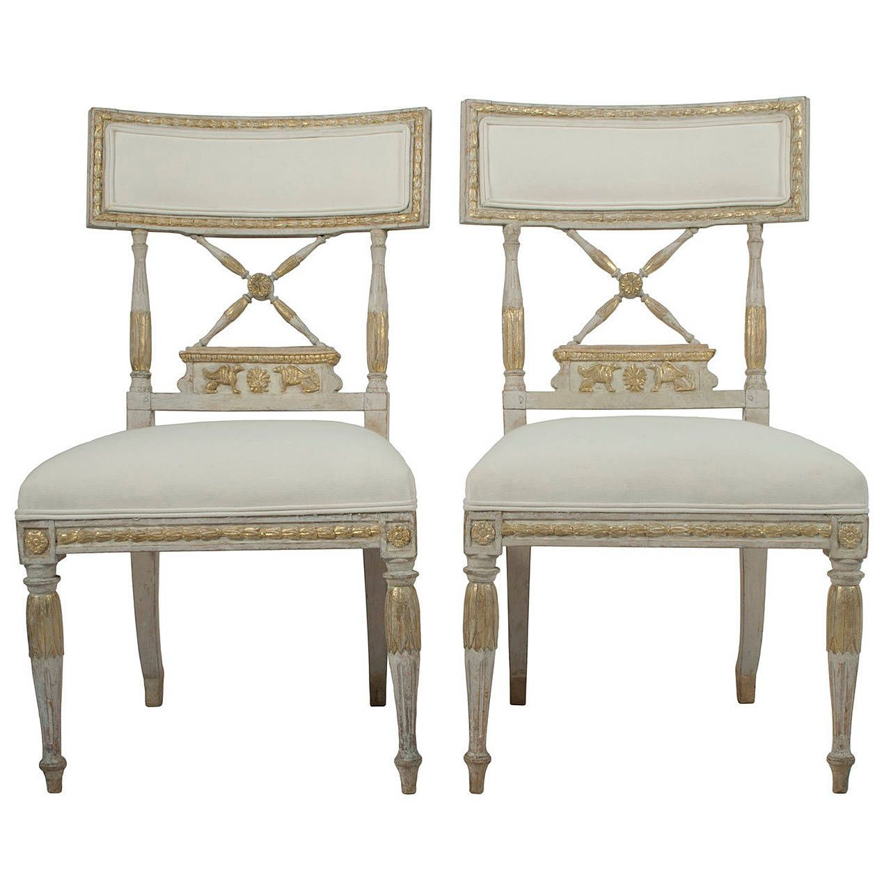 Pair Of Signed Gustavian Side Chairs By Erik Ohrmark | From A Unique  Collection Of Antique