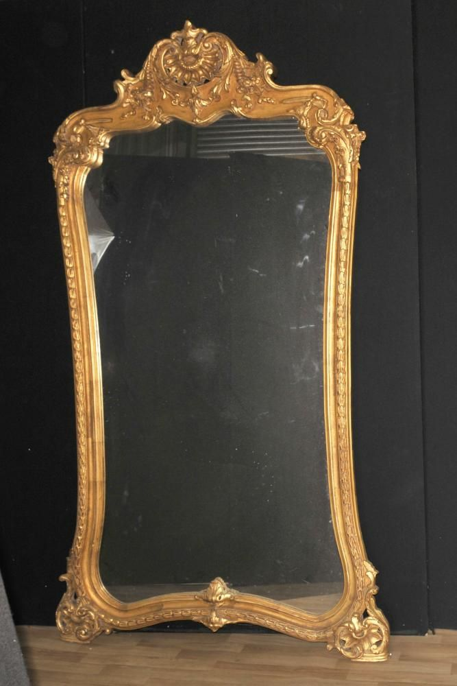 7 foot mirror metal large french louis xvi gilt pier mirror foot in