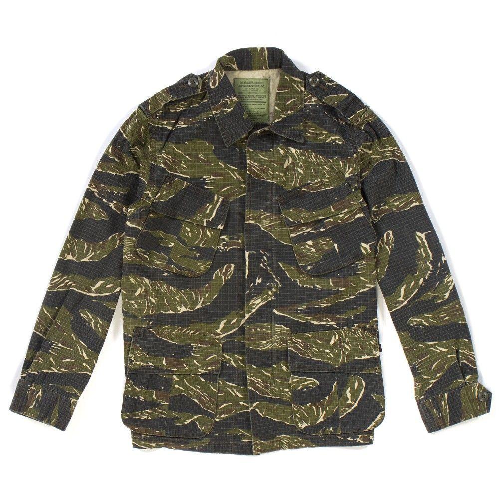 e911c91df8873 alpha industries jp tiger stripe ripstop field jacket. | camouflage ...