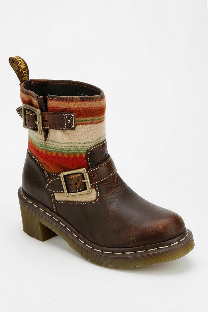 Dr martens x pendleton heeled moto boot boots shoe