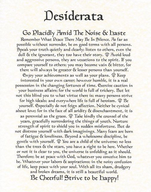 Desiderata Poem 11 X 14 Poster Calligraphy By Desideratasuperstore 5 50 Desiderata Poem Desiderata Max Ehrmann