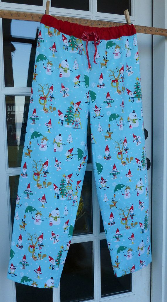 CLEARANCE SALE Christmas Gnome 100% Cotton womens or teen girls pajama pants  -size small ONLY 7201a92b3