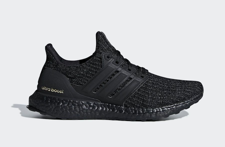promo code fef51 7bc21 adidas Ultra Boost 4.0 Triple Black Gold F36123 Release Date