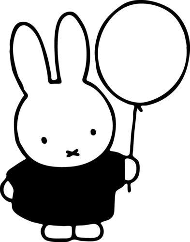 Window Wall Display Miffy Bunny Rabbit Balloon Silhouette