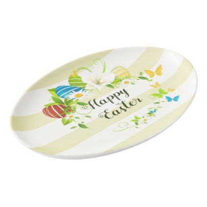 Easter eggs spring flowers and butterflies wreath porcelain serving easter eggs spring flowers and butterflies wreath porcelain serving platter script gifts template templates diy customize personalize special pinterest negle Gallery