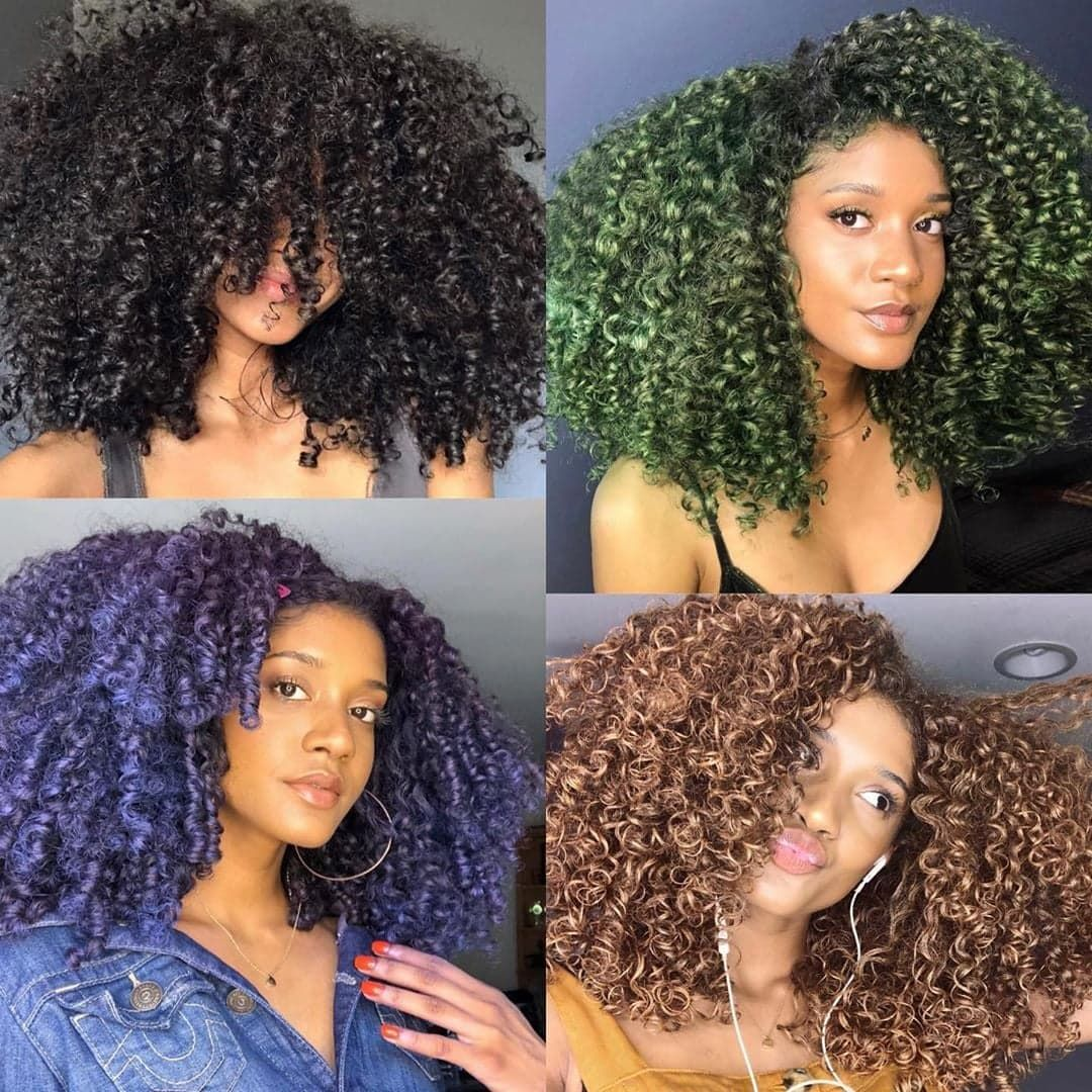 Pin By Ya Gurl Jj Lit On Fashion Hairstyle In 2020 Temporary Hair Dye Blue Natural Hair Dyed Natural Hair