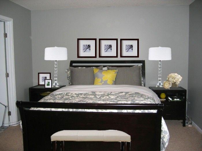 Bedroom dark furniture carpet grey walls bedroom Bank … | Pinteres…