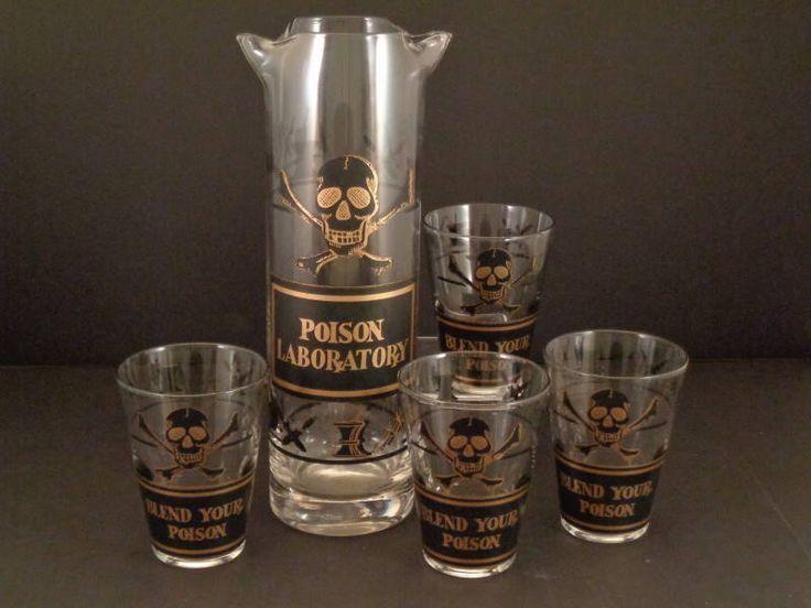 1000+ Images About Vintage Poison Barware On Pinterest | Vintage .