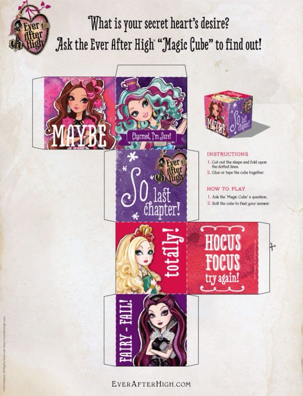 Ever after high cube