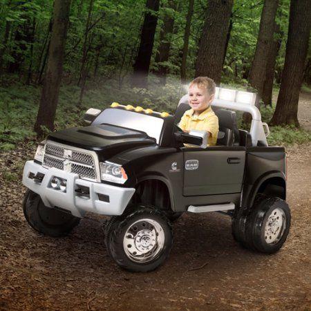 Kid Trax Ram Dually 12 Volt Battery Ed Ride On Black