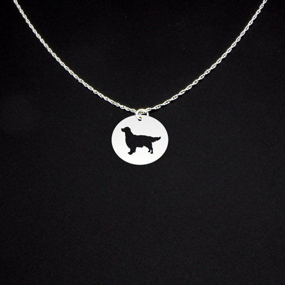 Golden Retriever Necklace Sterling Silver by McLaughlinCreations