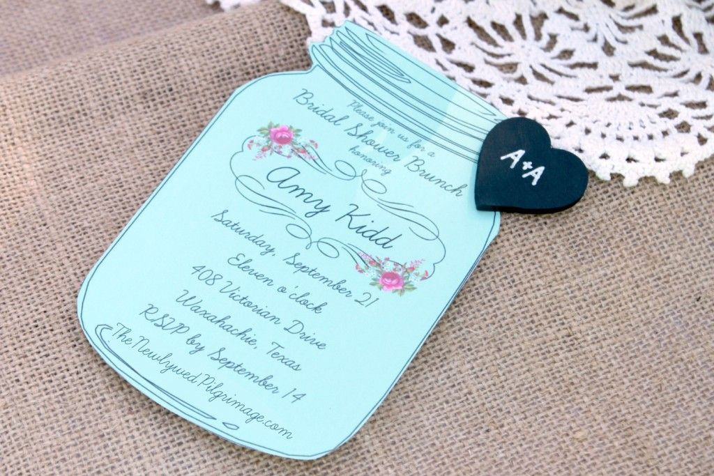 diy wedding crafts mason jar invitations embellished with wooden chalkboard heart tags free printable