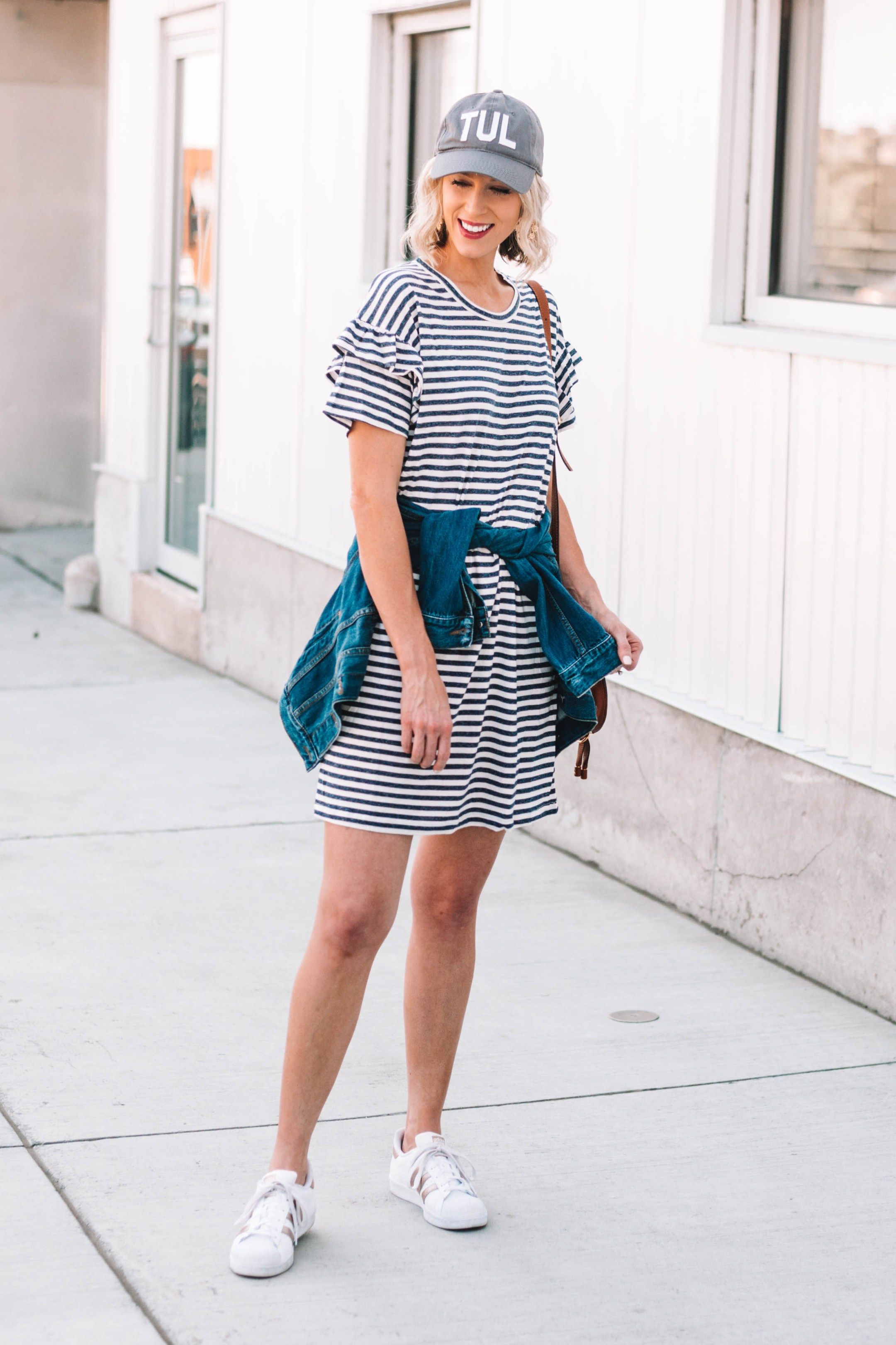 How To Style A T Shirt Dress Casually How To Wear Sneakers