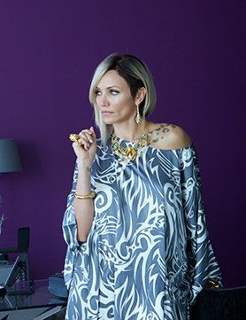 Cameron Diaz wearing Thomas Wylde as Malkina in The Counselor