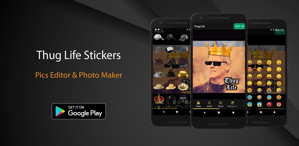 Thug Life Stickers Pics Editor Photo Maker Meme Photo Maker Picture Editor Thug Life