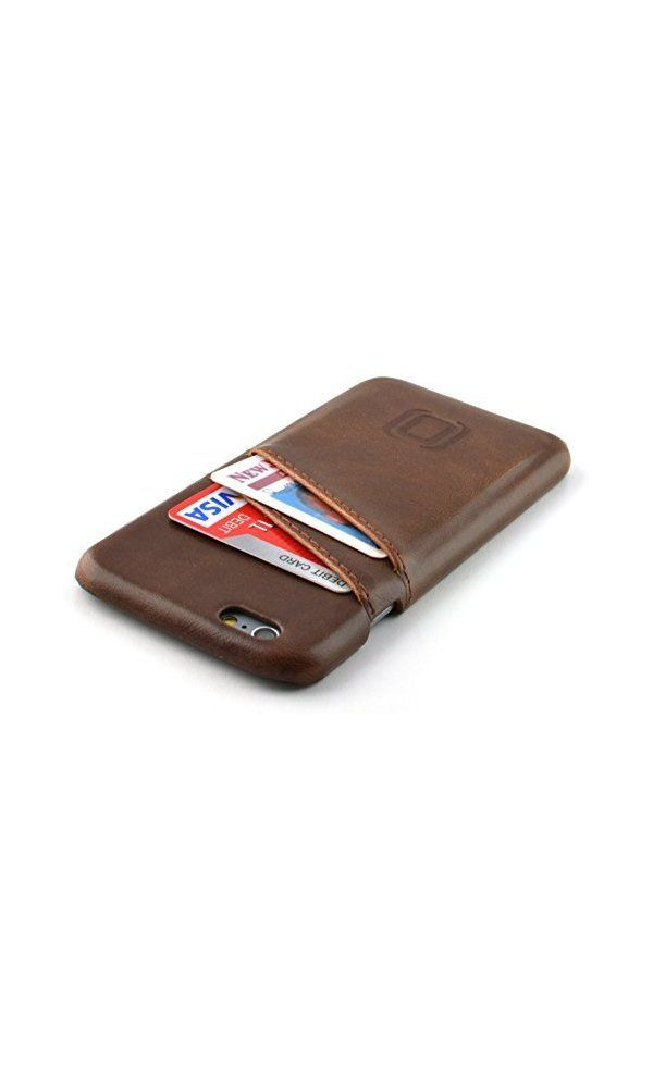 9a1e71c229e47 24.99  - iPhone 6 Card Case by Dockem- Vintage Synthetic Leather Wallet Case-  Ultra Slim Professional Executive Snap On Cover with 2 Card Holder Slots-  ...