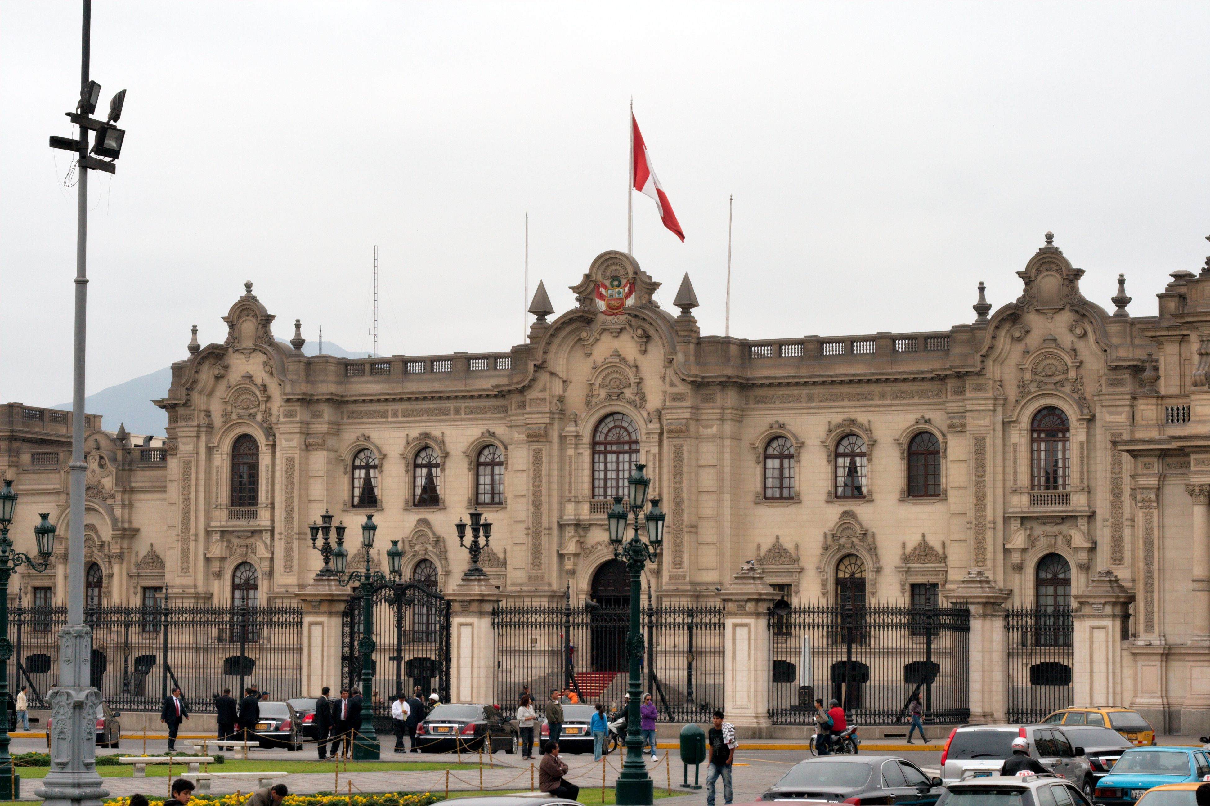 The presidential palace. Peru is a Republic.