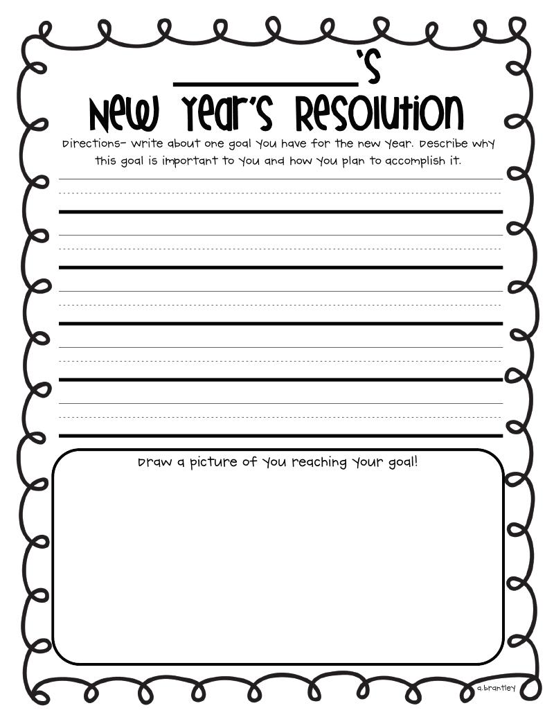 medium resolution of Classroom Freebies: Happy New Year Freebies!!   First grade writing