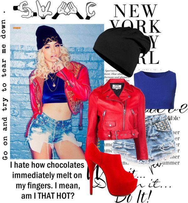 """Rita Ora"" by vegasunicorn ❤ liked on Polyvore"