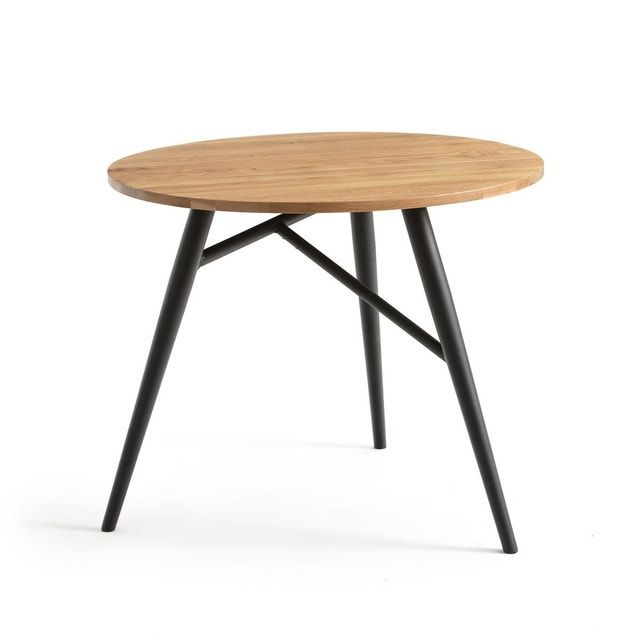 Table A Manger Ronde Chene 3 Couverts Cruseo En 2020 Table A Manger Ronde Table A Manger Salle A Manger Table Ronde