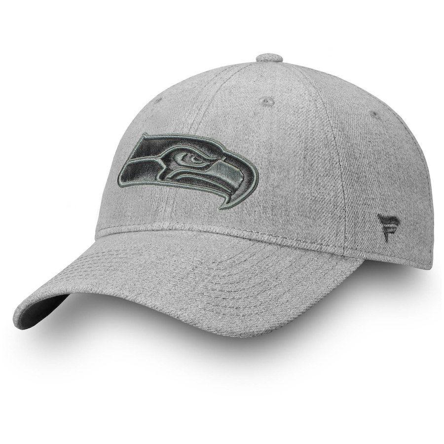 new styles d08d1 80f61 Baseball Cap ·   Men s Seattle Seahawks NFL Pro Line by Fanatics Branded  Heathered Gray Logo Team Haze Adjustable