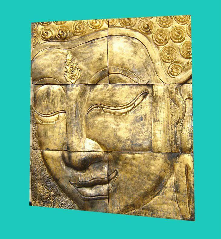 Awesome Carved Buddha Wall Decor Frieze - Wall Art Design ...