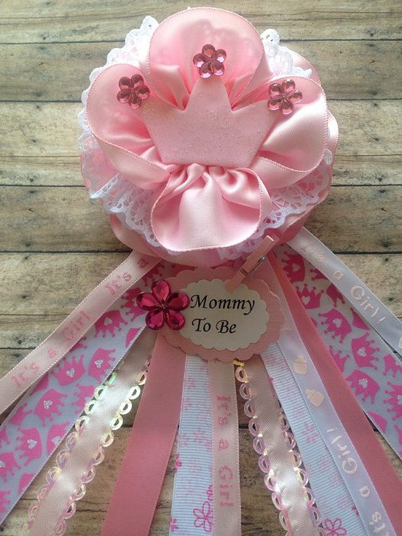Princess Theme Mommy To Be Baby Shower Corsage Pink Baby Shower