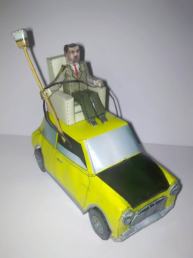 Mr bean and his car paper craft do it yourself mran mr bean and his car paper craft do it yourself mran solutioingenieria Images