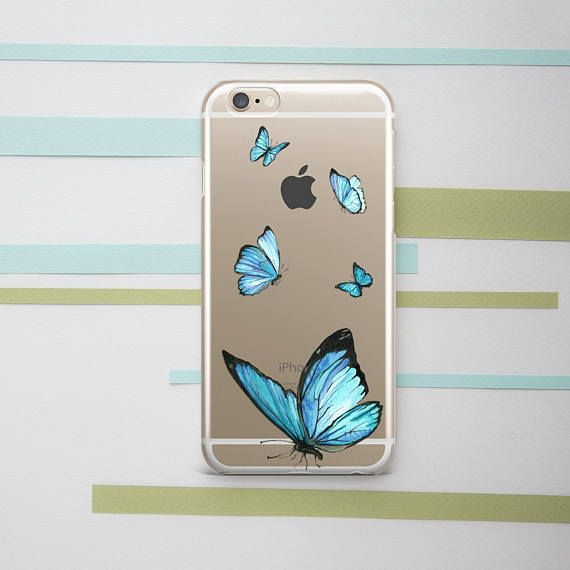 Butterfly Iphone Case Cute Girly Transparent Iphone Xs Max Etsy Iphone Cases Cute Cute Iphone 7 Cases Iphone 6splus Cases