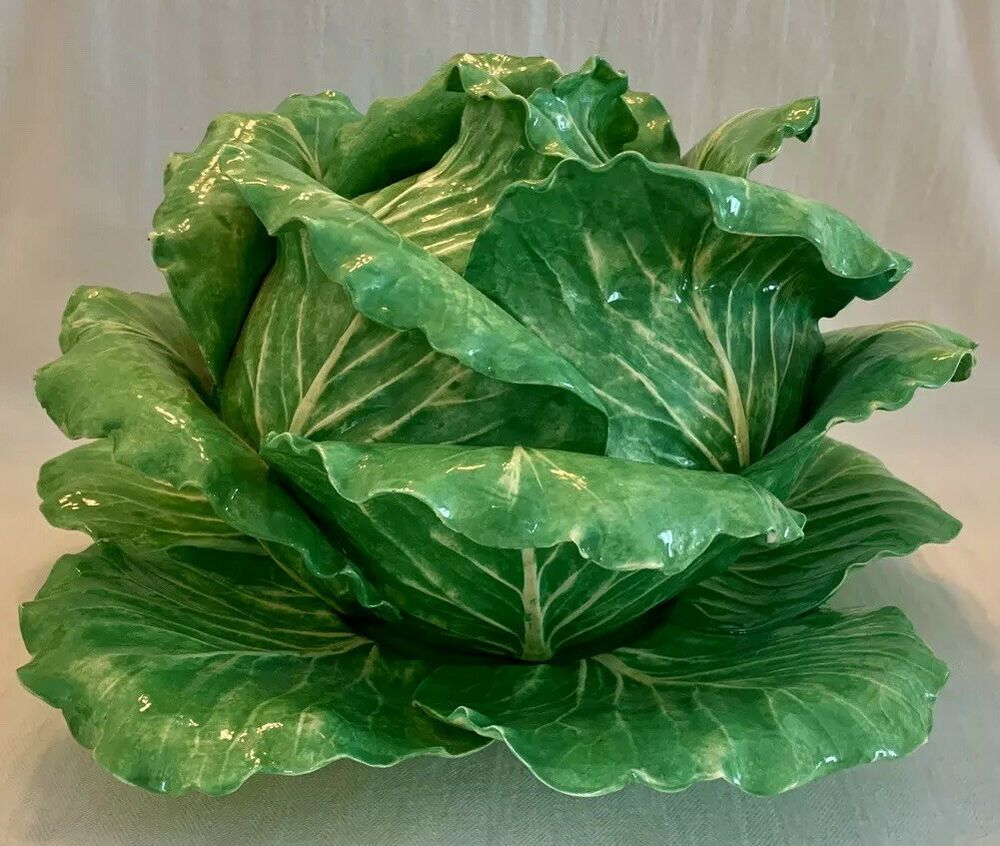 Dodie Thayer Large Soup Tureen Plate Cabbage Lettuce Ware November 1967 Dodiethayer Cabbage Lettuce Tureen
