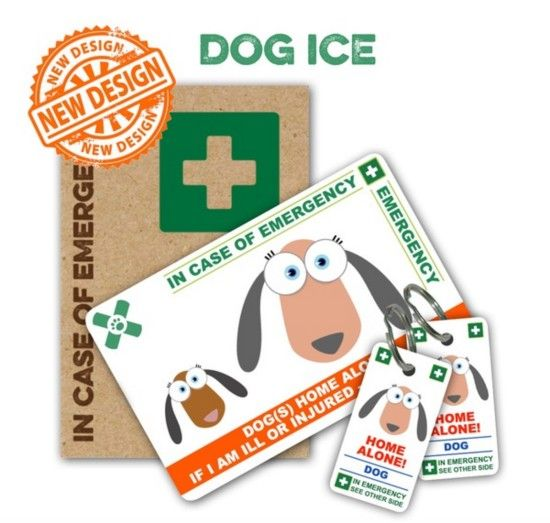 Pet Home Alone Card Is Perfect For Emergency Situations With Images Dog Emergency In Case Of Emergency Cards