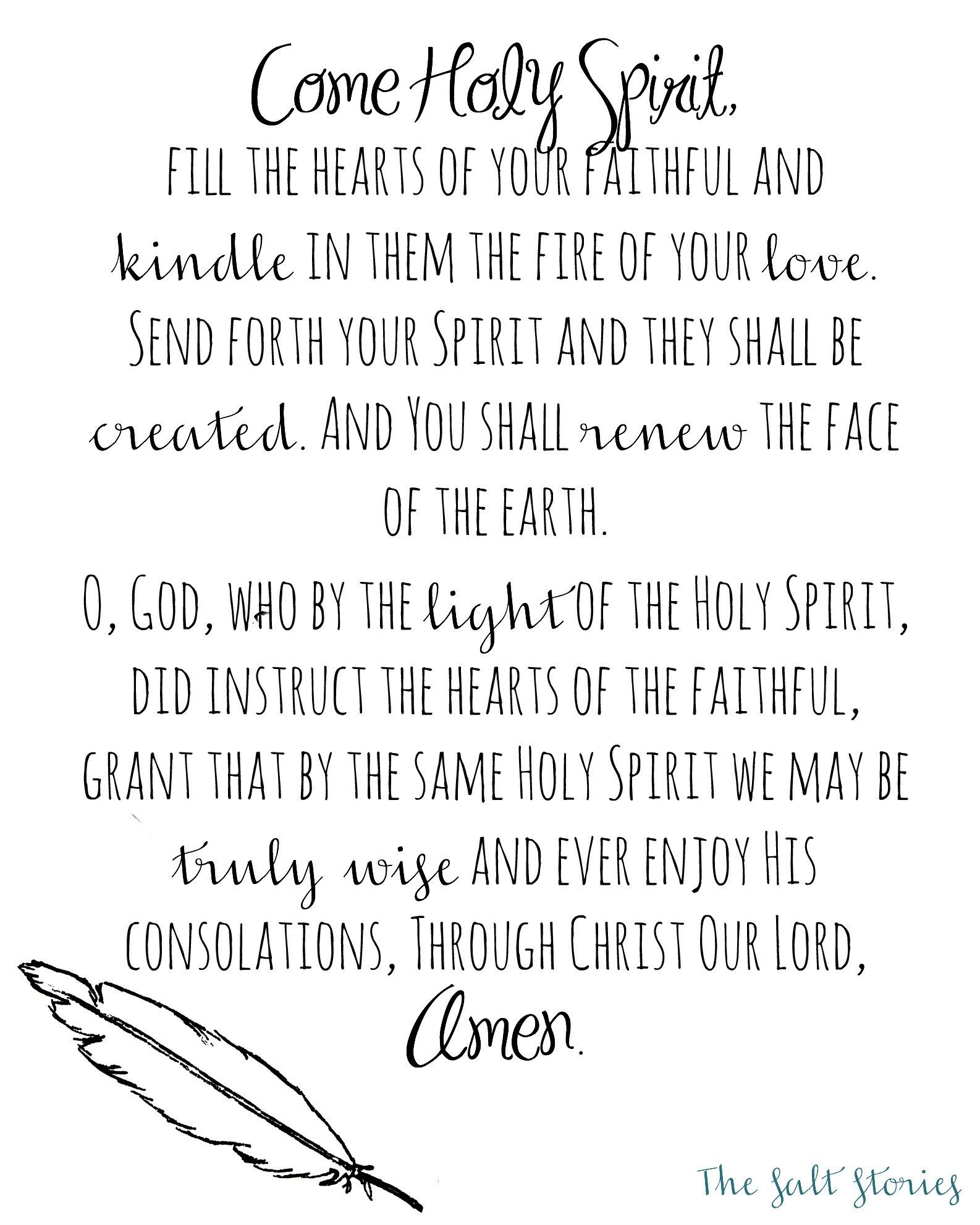 photo relating to Come Holy Spirit Prayer Printable called Occur Holy Spirit.. Inside Remembrance @The Salt Reports
