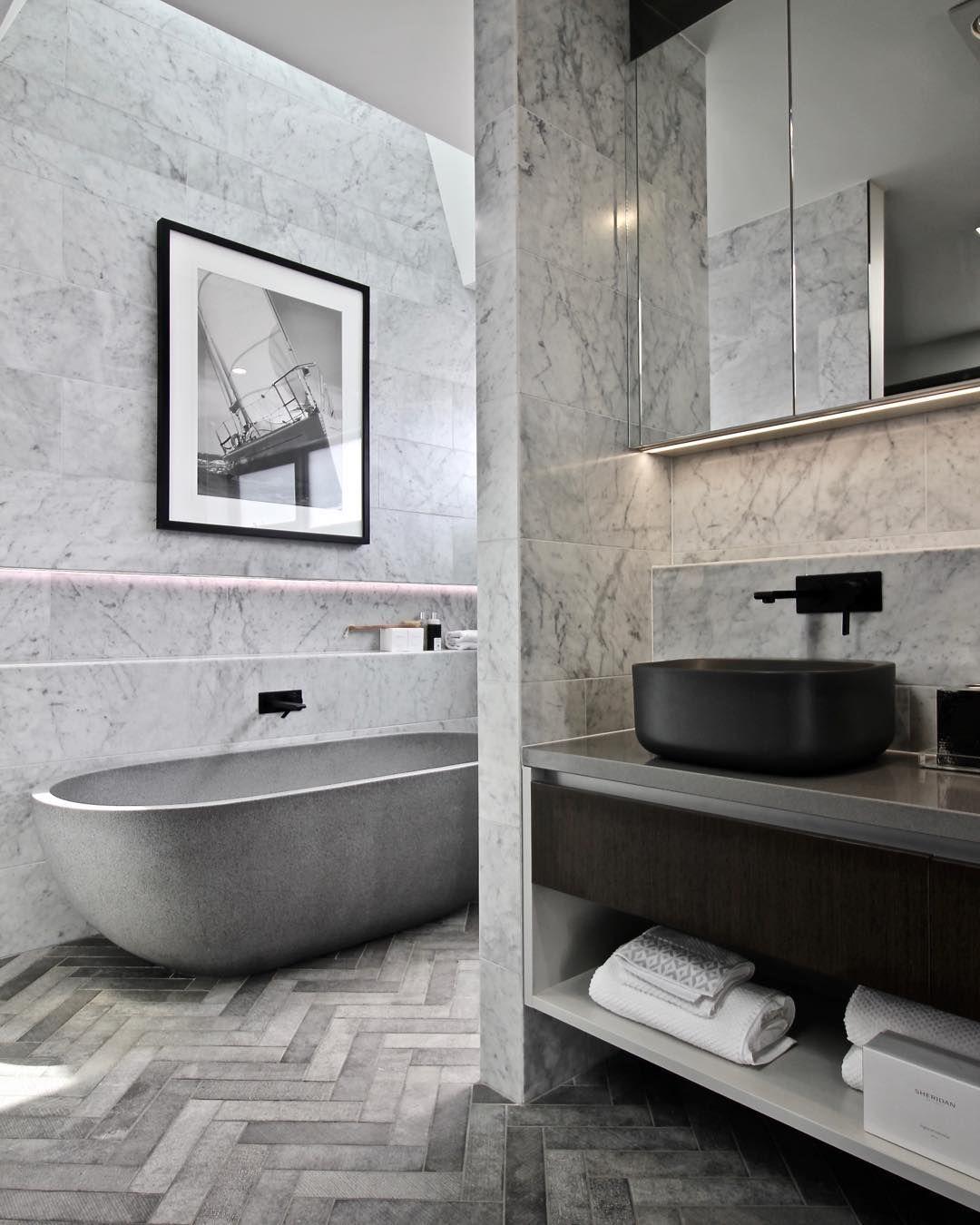"""Classic Carrara Marble Bathrooms: Kolak Living On Instagram: """"Our Classic Carrara Marble"""