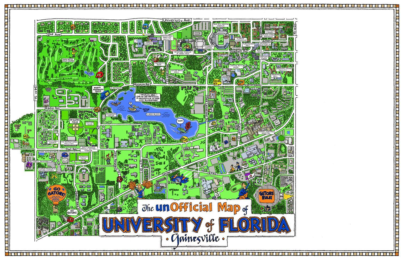 Map University Of Florida.Fun Maps Usa University Of Florida Write