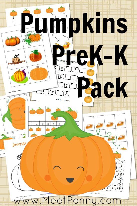 Pumpkins PreK-K Printable Pack | Kid Blogger Network Activities ...