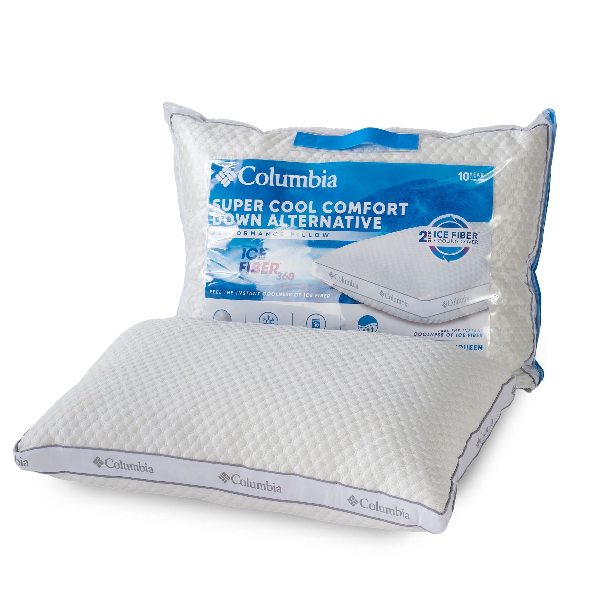 Columbia Ice Fiber Side Sleeper Down Alternative Pillow Columbia