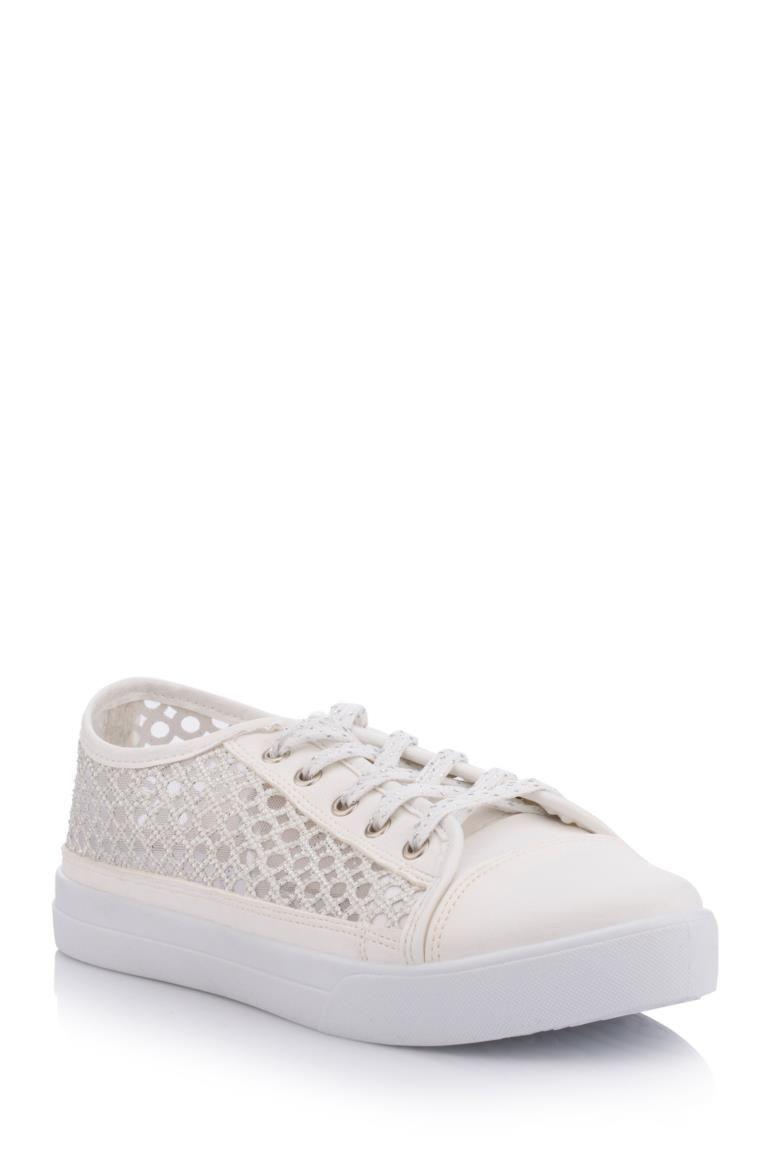 Beyaz Kadin Spor Ayakkabi 421354 Ayakkabilar Spor Canta
