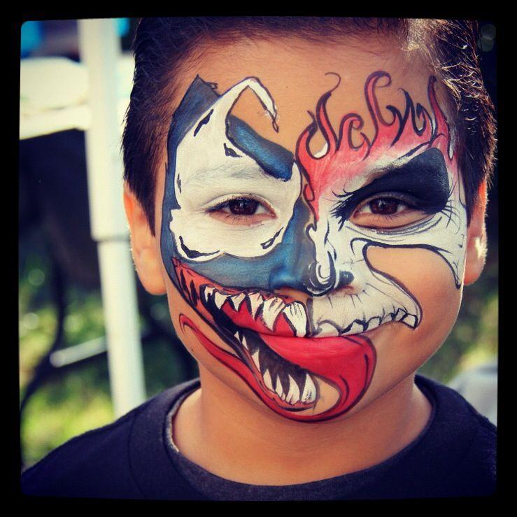 Half Venom, half Ghost Rider. He was a happy kid ...