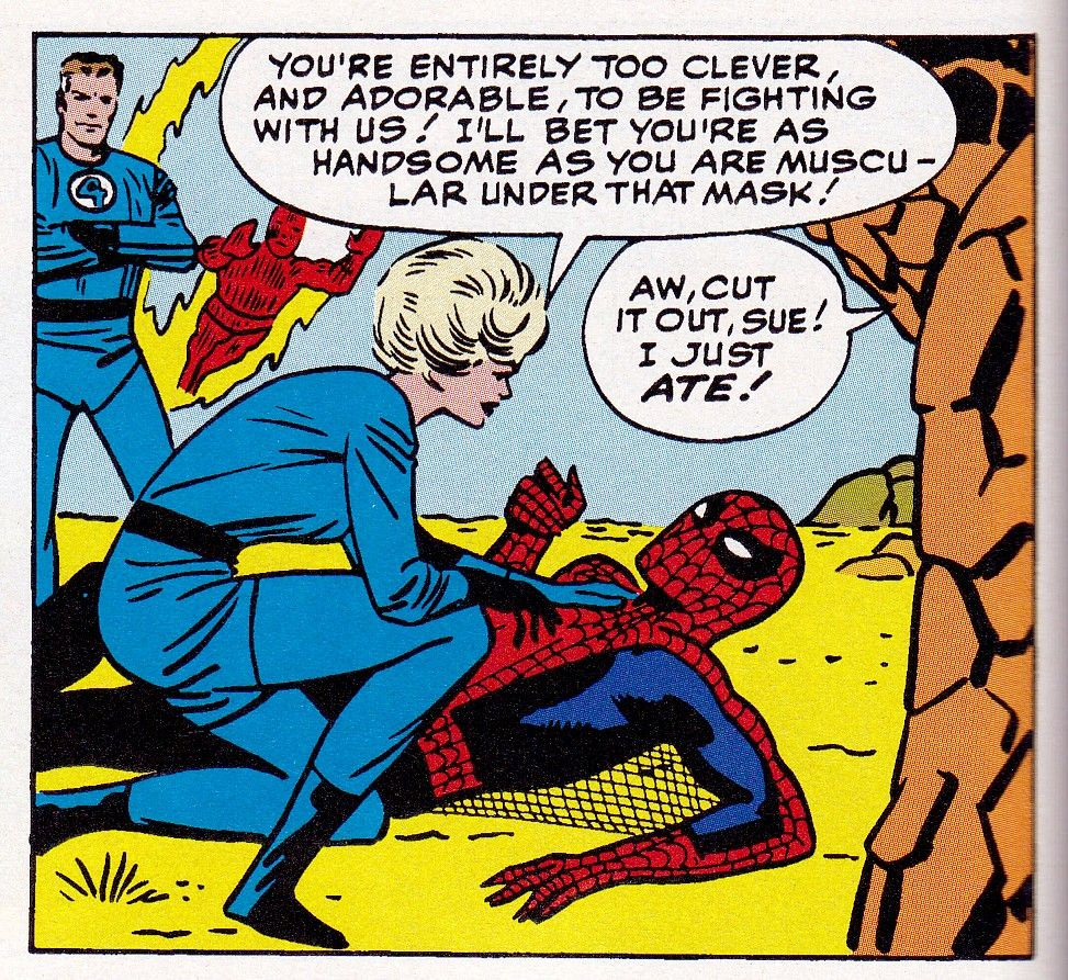 Spider-Man is too clever and adorable to fight with the Fantastic Four.