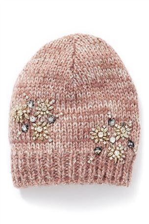 Buy Pink Snowflake Beanie Hat from the Next UK online shop  727cf3a2520
