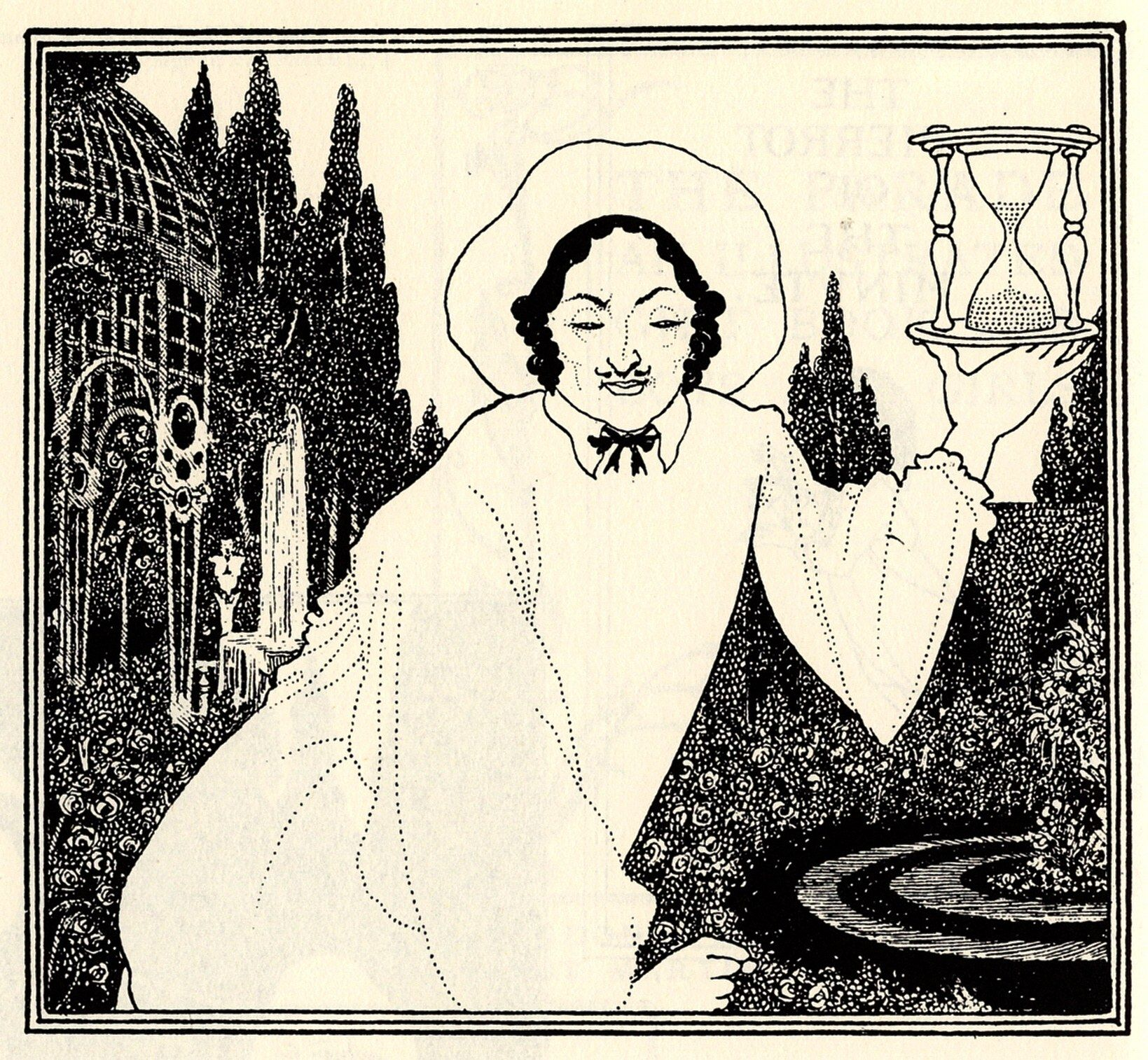 Cover design to 'The Pierrot of the Minute' - Aubrey Beardsley | illustration, black & white
