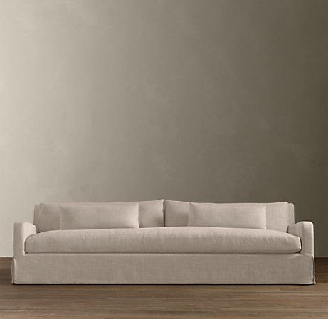 Belgian Slope Arm Slipcovered Sofa Restoration Hardware