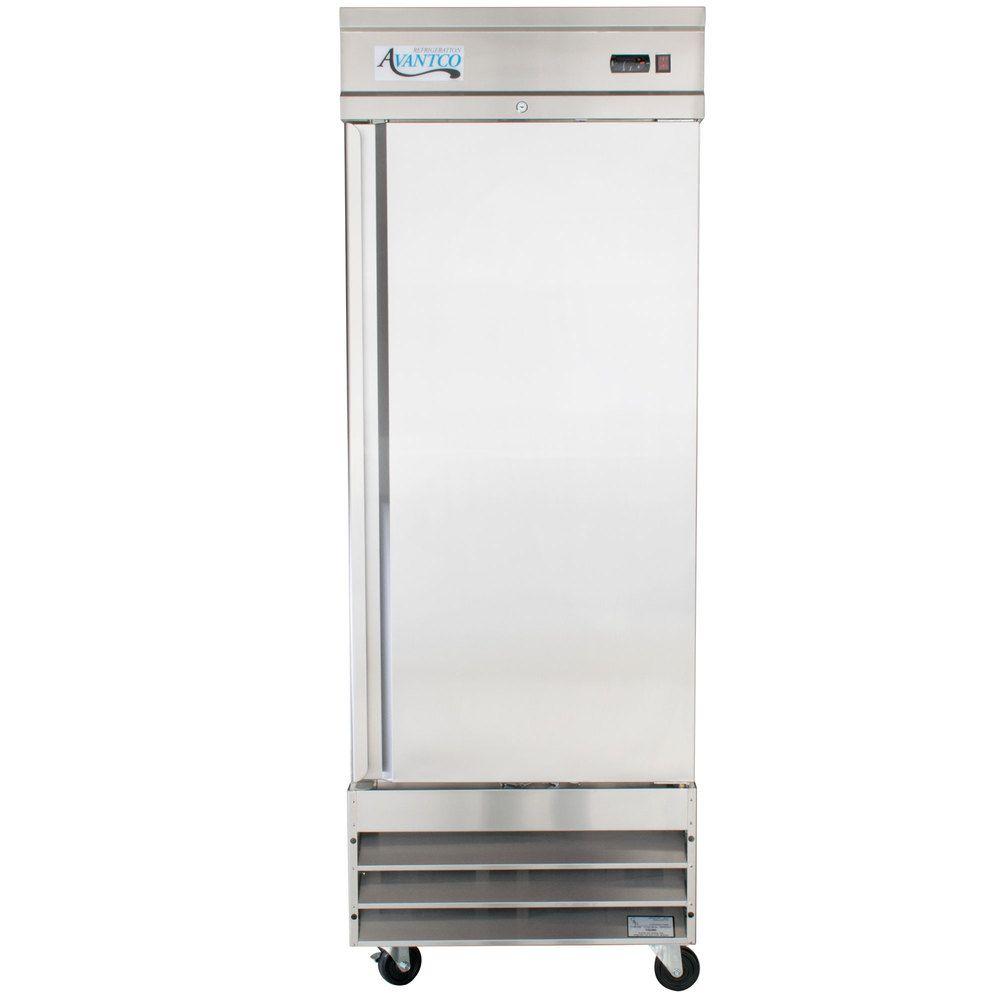 "Avantco CFD-1RR 29"" One Section Solid Door Reach in Refrigerator - 23 Cu. Ft."