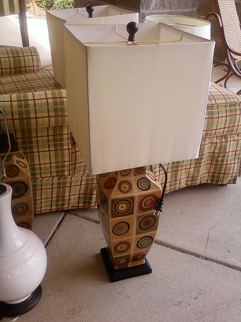 Square modern lamp...Cute..fun...funky..may need to check these out