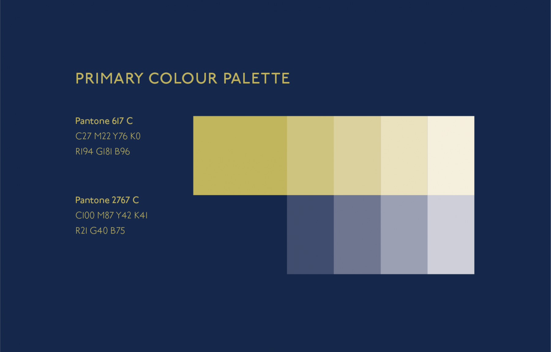 Luxury Branding Colour Palette Colour Inspiration Navy Gold Hangar A Malta Based Creativ Brand Color Palette Gold Graphic Design Navy Color Palette