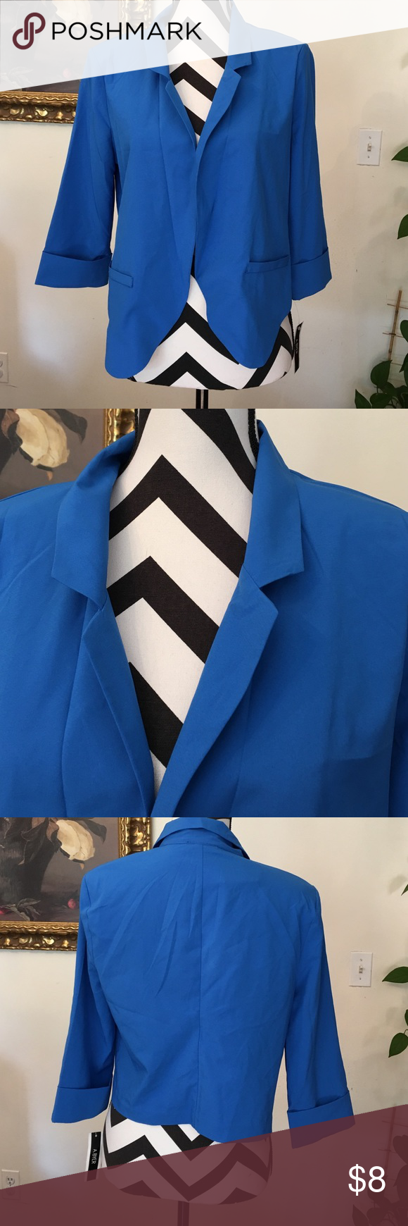 A. Byer Beautiful blue short jacket bran new with tags attach JR.SIZE A.Byer Jackets & Coats Blazers