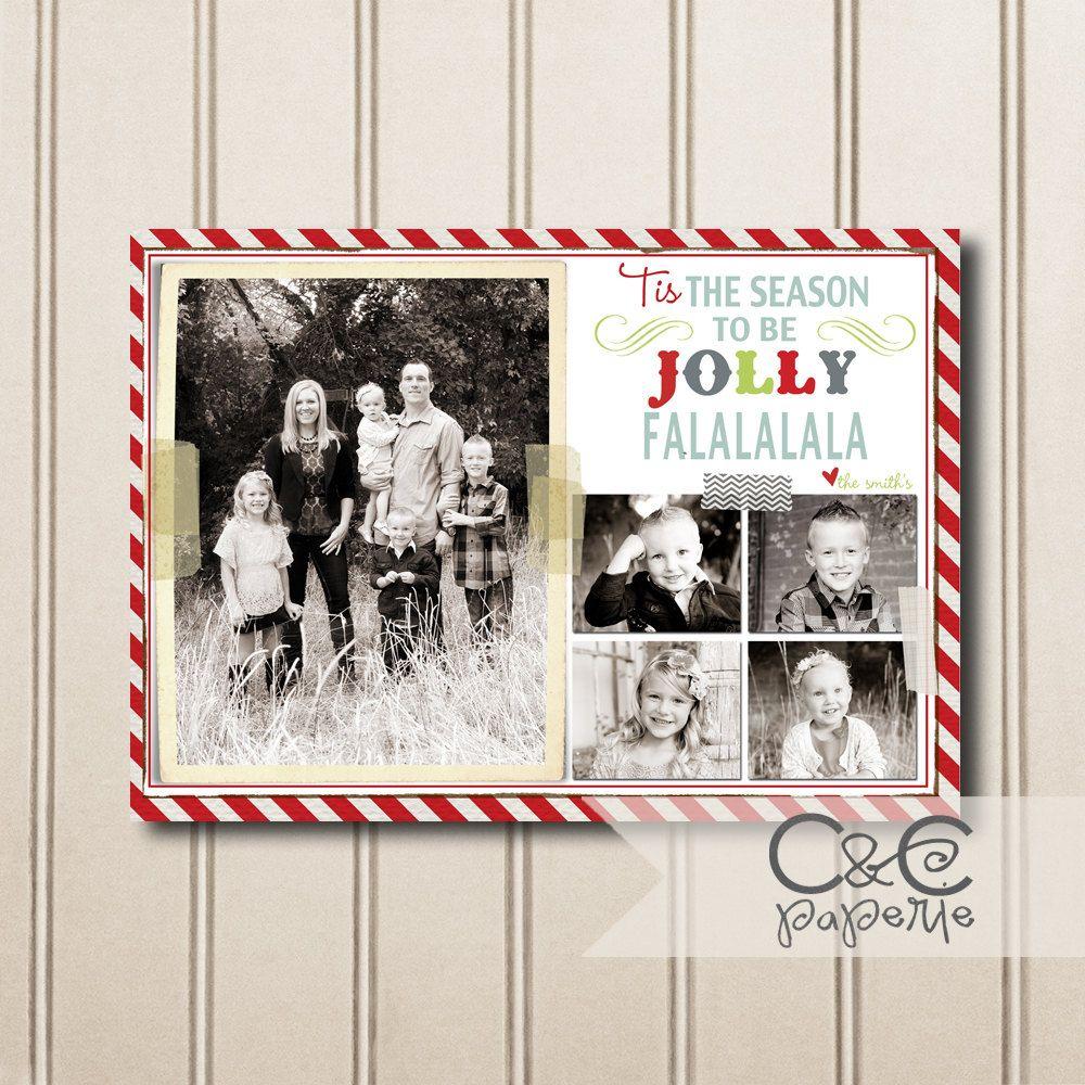 Holly Jolly Christmas Card Printable.
